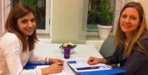 Sofia Liljeblad (till höger), projektledare på Tele2, träffade sin adept Shabnam Behrouziazar.