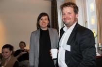 Mentorn Fredrik SJödin, ELsäkerhetsverket i Umeå, träffade sin adept Sofia Sandén från SCA.