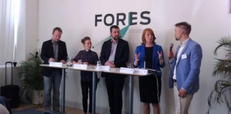 Annie Lööf pratade om nördskatten på ett seminarium som tankesmedjan Fores arrangerade förra veckan.