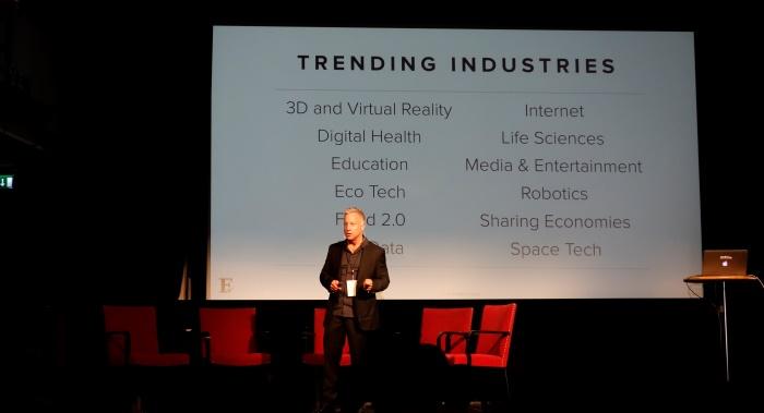 Founder.orgs grundare Michael Baum talade om trender bland uppstartsföretagen. Foto: Ingenjören