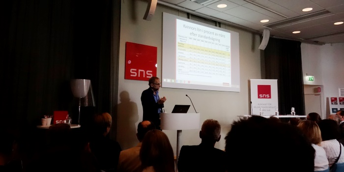 Claes Stråth, Medlingsinstitutet, talade om utmaningarna inför den kommande avtalsrörelsen. Foto: Ingenjören