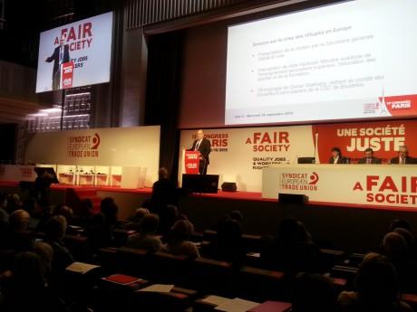 LO. TCO och Saco var på plats i Paris för att bidra till ETUC:S aktionsplan och manifest.