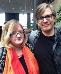 Karin Karlsson och Balder Lindegård på Infotiv.