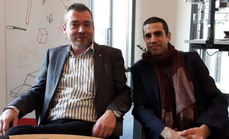 Foto: Redax. Robert Fuss och Six Silberman  arbetar med IG Metalls Faircrowdwork.org. Här kan arbetare på digitala plattformar få råd och info om villkor och om hur plattformarnas organisation ser ut.