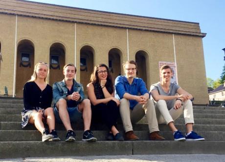 Malin Kjällström, Andreas Rolén, Isabella Carlsson, Viktor Möller och Linus Olsson. Foto: Linus Olsson
