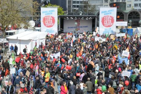 Foto: Adam Wolf/DGB. I Tyskland planeras stora demonstrationer mot TTIP och Ceta den 17 september.