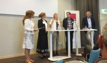 Från vänster: Helena Blomquist, Eva Samakovlis, Maria Börjesson, Svante Axelsson och Anders Wijkman. Foto: Ingenjören