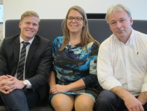 Ftot Redax: Edward Ringblom, Jeanette Pahlén och Tibor Muhi från distrikt Stockholm har varit och föreläst.