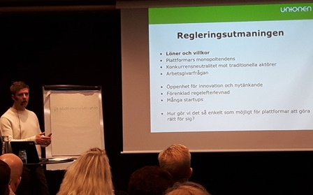 Foto: Ingenjören. Facken bör ta på sig att reglera framtidens arbetsmarknad vare sig den är digital eller inte menar Fredrik Söderqvist, Unionen.